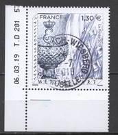 FRANCE 2019 -  Timbre - Métier D'art - Cristallerie Oblitéré Cachet Rond - Frankreich