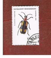 MADAGASCAR -  SG 1138  - 1994  BEETLES: CRIOCERIS ASPARAQI     -  USED° - Madagascar (1960-...)