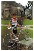 CARTE CYCLISME JOCELYN JOLIDON SIGNEE TEAM EUROCAR 1989 FORMA 13 X 19 - Cyclisme
