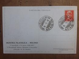 LUOGOTENENZA - Marcofilia - Cartolina Ufficiale Mostra Filatelica Milano 1946  + Spese Postali - Sonstige