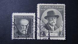 Czechoslovakia - 1937 - Mi:CS 379-80, Sn:CS 234-5, Yt:CS 331-2 Used - Look Scan - Tschechoslowakei/CSSR