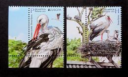 Belarus 2019 - Europa-CEPT. National Birds, 2v MNH. White Stork, Bird, Cigogne Blanche, Weißstorch, Vogel. - Storks & Long-legged Wading Birds