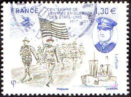 Oblitération Cachet à Date Sur Timbre De France N° 5156 ** Centenaire De L'entrée En Guerre Des États-Unis - Francia