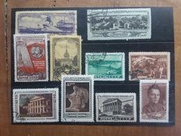 RUSSIA - 10 Francobolli Timbrati Inizio Anni '50 + Spese Postali - 1923-1991 URSS