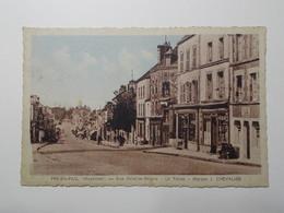 Carte Postale  - PRE EN PAIL (53) - Rue Aristide Briand - Le Tabac Maison J. Chevalier (3233) - Pre En Pail