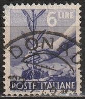 1945 Serie Democratica 6 Lire - Usato - 6. 1946-.. Republic