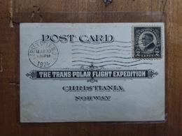 STATI UNITI - Posta Aerea - Spedizione Transpolare USA/Norvegia E Ritorno + Spedizione Prioritaria - Poste Aérienne