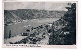 D-9568   SANKT GOAR  Am RHEIN : Blick U.Burg Rheinfels - St. Goar