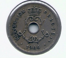 LEOPOLD II  * 5 Cent 1904 Vlaams * Nr 9932 - 1865-1909: Leopold II