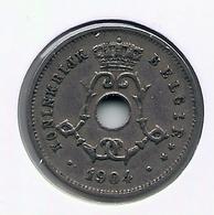 LEOPOLD II  * 5 Cent 1904 Vlaams * Nr 9933 - 1865-1909: Leopold II