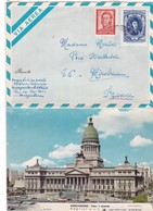 ARGENTINE ,,  VIA  AEREA,,,,,,,AEROGRAMA    Voyage   1970   POUR MIREBEAU  FRANCE,,,TBE - Posta Aerea