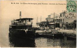 CPA Le CREUX St-GEORGES Pres TOULON - Arrivee Du Ferry-Bois (275793) - Saint-Mandrier-sur-Mer