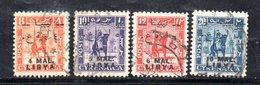 APR2327 - LIBIA LYBIA 1952 Em Per Tripolitania,  4 Valori Usati  (2380A) Cavaliere - Libia