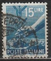1945 Serie Democratica 15 Lire - Usato - 6. 1946-.. Republic
