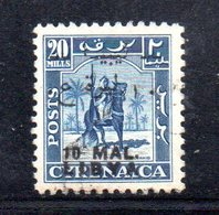 APR2328 - LIBIA LYBIA 1952 Em Per Tripolitania,  10 Mal Su 20 Mills Usatoi  (2380A) Cavaliere - Libia