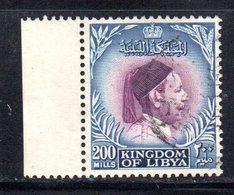 APR2330 - LIBIA LYBIA 1952 ,  200 Mills Usato  (2380A) Re Idris El Senoussi - Libia