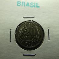 Brazil 20 Reis 1918 Varnished - Brasil