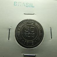 Brazil 50 Reis 1919 Varnished - Brasil