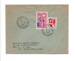 AFFRANCHISSEMENT COMPOSE SUR LETTRE DE PARIS 118 1960 - Marcophilie (Lettres)