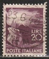 1945 Serie Democratica 20 Lire - Usato - 6. 1946-.. Republic