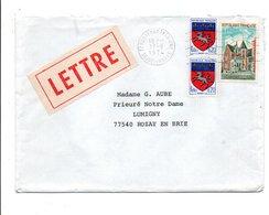 AFFRANCHISSEMENT COMPOSE SUR LETTRE DE FONTENAY TRESIGNY SEINE ET MARNE 1974 - Marcophilie (Lettres)
