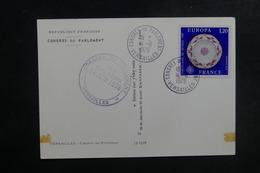 FRANCE - Oblitération Du Congrès Du Parlement De Versailles En 1976 Sur Carte Postale - L 39698 - Marcophilie (Lettres)
