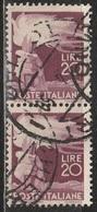 1945 Serie Democratica 20 Lire - In Coppia Usati - 6. 1946-.. Republic