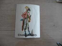 Chromo Ancien Publicitaire Chocolat Klaus Violon Noir Anti Esclavage - Other