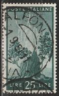 1945 Serie Democratica 25 Lire - Usato - 6. 1946-.. Republic