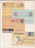Lot De  4  Cartes  Avec Publicités - Belgium