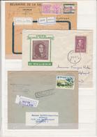 Lot De  3  Enveloppes  Recommandé - Belgium