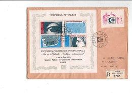 AFFRANCHISSEMENT COMPOSE DU BF N°7 SUR LETTRE RECOMMANDEE DE PARIS 1975 - Marcophilie (Lettres)