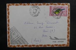 NOUVELLE CALÉDONIE - Enveloppe De Hienghene Pour Paris En 1967, Affranchissement Plaisant - L 39704 - Briefe U. Dokumente