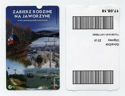 Ticket Simple De Téléphérique. Zabier Z Rodzine Na Jaworzyne. Polen Poland Polska Pologne PL - Titres De Transport