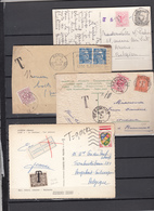 Lot De  4    Cartes   Et Enveloppe   Voir Cachets Taxe - Belgium