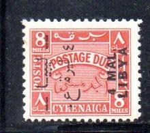 APR2326 - LIBIA LYBIA 1952 Em Per Tripolitania, Segnatasse Yvert  N. 38  Integro ***  MNH (sassone 10) (2380A) - Libia