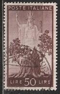 1945 Serie Democratica 50 Lire - Usato - 6. 1946-.. Republic