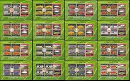Soccer Football St Vincent Grenadines 16 KB 6470/6557 2008 UEFA European Championship MNH ** - UEFA European Championship