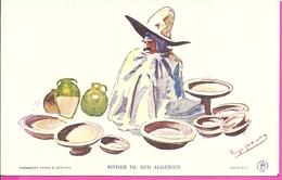 ---  POTIER DU SUD ALGERIEN -- ILLUSTRATEUR ROGER IRRIERA -- - Scènes & Types