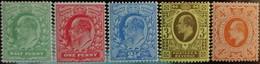 GRAN BRETAGNA 1911 Definitiva Edoardo VII N° 124/28 Dent. 15 X 14 Nuovi Senza Linguella  SPL Posta Raccomandatagratis - 1902-1951 (Re)