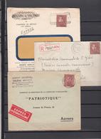 Lot De   3  Enveloppes     Recommandé Et Express - Belgium