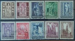 AUSTRIA - Canceled - ANK 799-808 - Stephansdom - 1945-60 Oblitérés