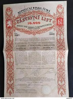 RARE / BANQUE HYPOTHECAIRE DU ROYAUME DE BOHEME 1927 - Bank & Insurance