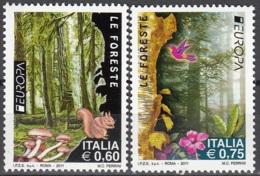 Italia 2011 Yvert 3204 - 3205 Neuf ** Cote (2015) 4.10 Euro Europa CEPT Les Forêts - 2011-...: Neufs