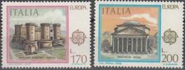 Italia 1978 Michel 1607 - 1608 Neuf ** Cote (2015) 1.50 Euro Europa CEPT Monuments - 1946-.. République