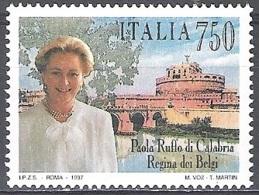 Italia 1997 Michel 2504 Neuf ** Cote (2006) 0.80 Euro Reine Paola Emission Avec La Belgique - 1946-.. République