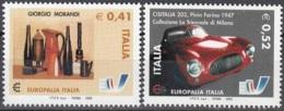 Italia 2003 Michel 2927 - 2928 Neuf ** Cote (2006) 1.90 Euro Europalia Italia Emission Avec La Belgique - 1946-.. République