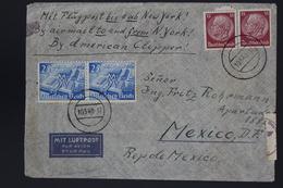 Deutsche Reich  Luftpost Cover  Berlin , New York Mit American CLipper -> Mexico, 10-5-1940 Anfang Krieg Westen - Storia Postale