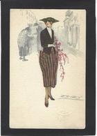 CPA Mauzan Femme Girl Woman érotisme Glamour Fantaisie écrite - Mauzan, L.A.
