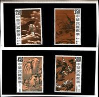 6765B) FORMOSA- 1966-QUADRI DELLA CINA ANTICA-SERIE COMPLETA-N. 541/44-MNH** - 1945-... République De Chine